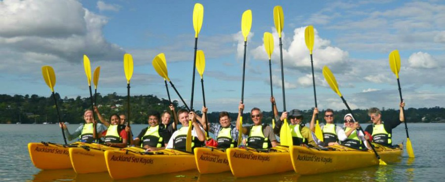 Riverhead Paddle to the pub, Group thing to do Auckland, Corporate activities, sea kayak adventures