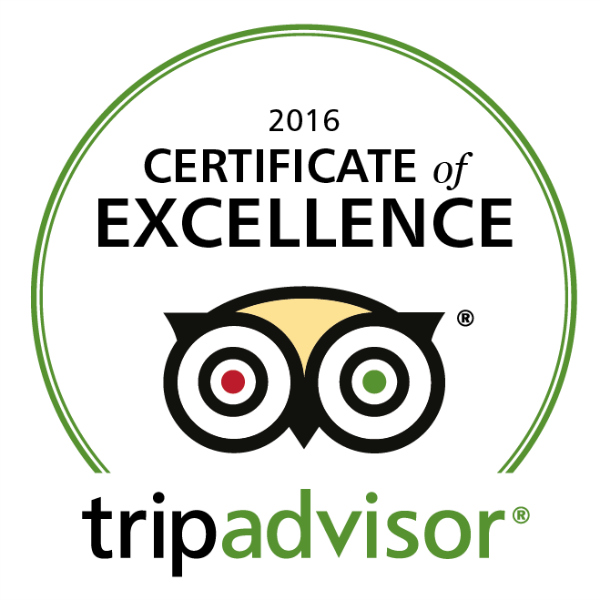TripAdvisor Certificate of Excellence 2016 Auckland Sea Kayaks