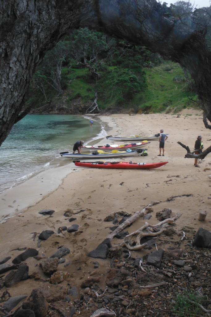 Kayak Great Barrier Island. New Zealand.