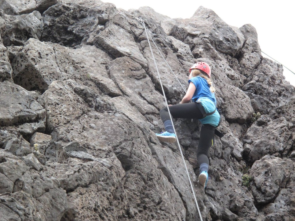 Rock climbing Great Barrie Island New Zealand