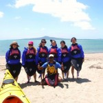 autumn sea kayaking in Auckland