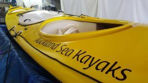 Repaint a kayak, ready for the water