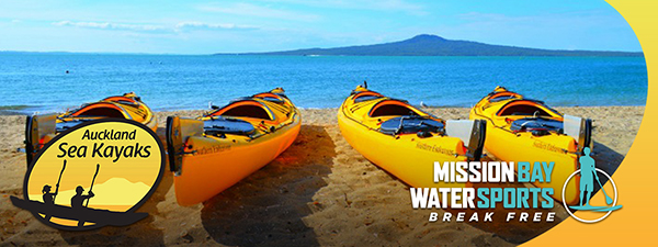 Auckland Sea Kayaks Certificate of Excellence for more than 5 years. Beach rentals and guided tours