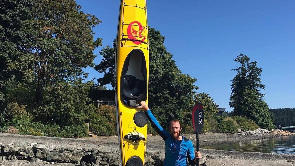Daniel O'Connor in Canada before heading back to Auckland Sea Kayaks New Zealand