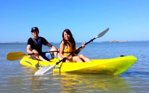 Auckland best kayak rentlal location mission bay beach