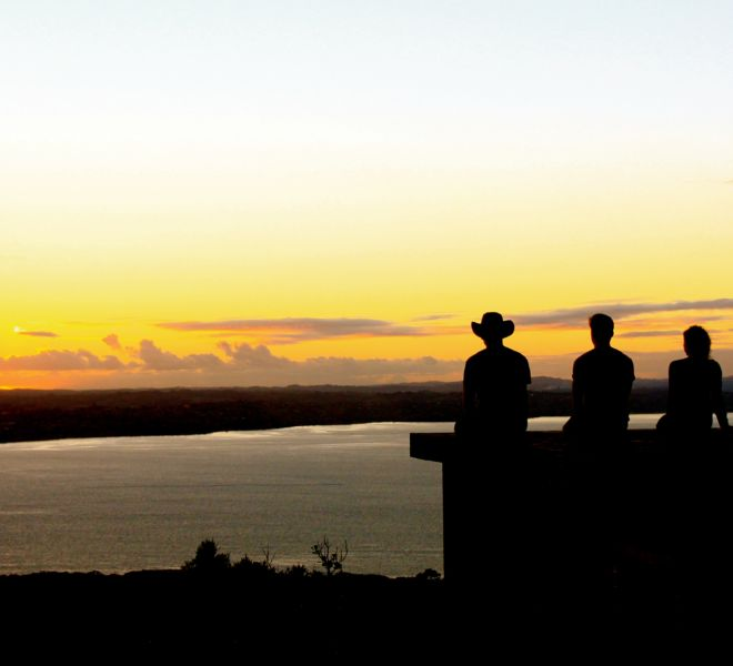 Sunset Rangitoto with Auckland Sea Kayaks