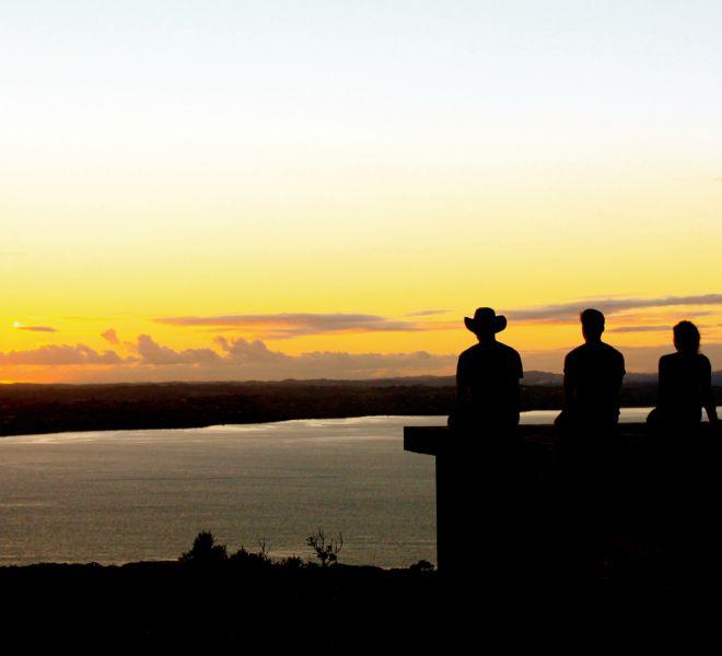 Sunset Rangitoto with Auckland Sea Kayaks