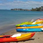 Kayaks at mission bay auckland new zealand