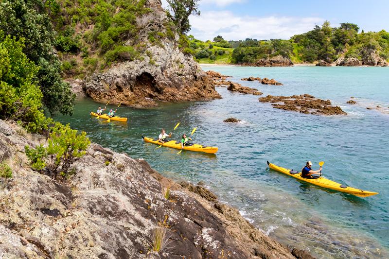 Motuihe kayak tour two days with auckland sea kayaks