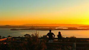 Auckland sea kayak sunset