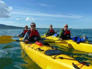 Auckland Sea Kayaks first ever sea kayak tour to Rangitoto island with paying guests.