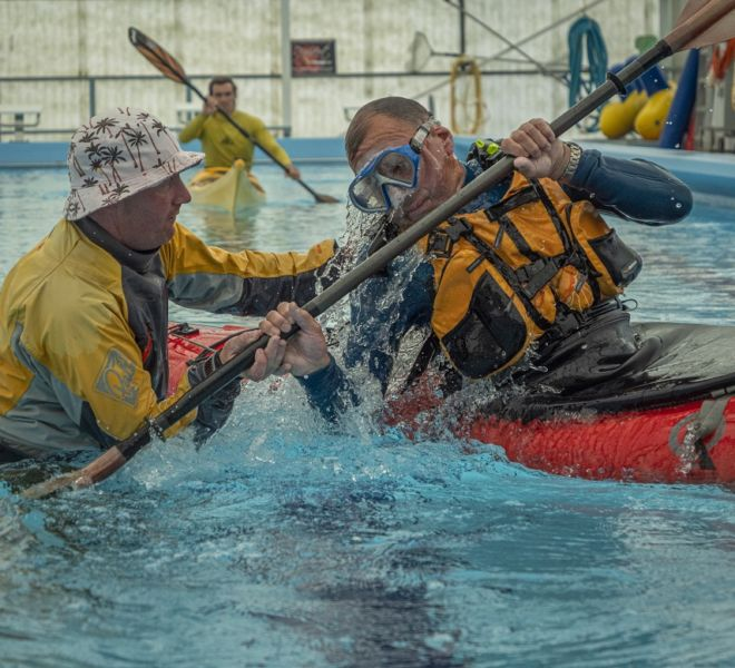 Learn to roll a sea kayak Auckland Sea Kayaks