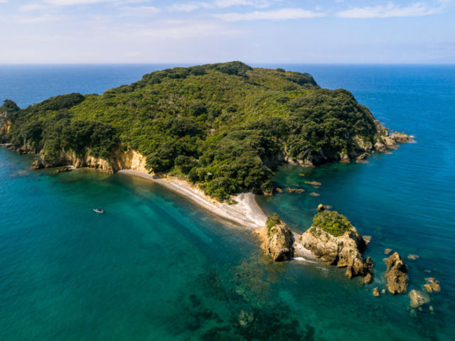 Arial photo of Otata Island, The Noises, Hauraki Gulf,