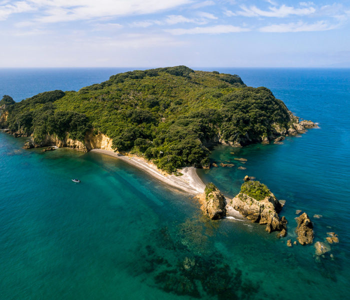 Arial photo of Otata Island, The Noises, Hauraki Gulf,