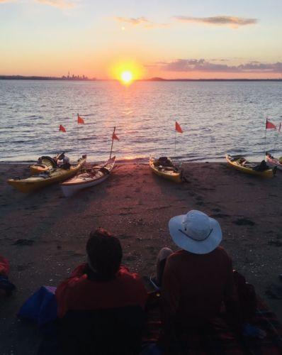 Auckland Sea Kayaks Janet Dalton, Sunset Dining on Browns Island