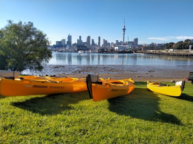 Auckland Sea Kayaks Paddling in the urban environment