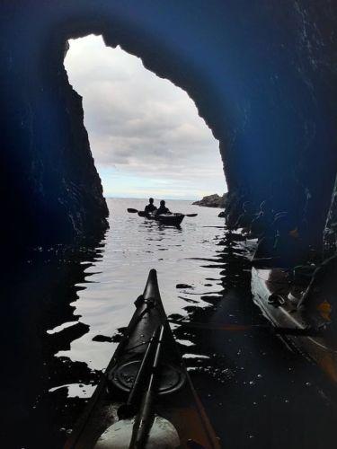 Auckland Sea Kayaks Exploring the caves of Moturekareka Island