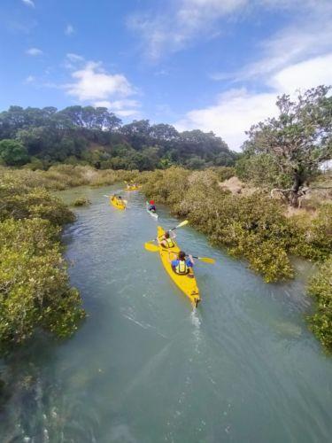 Auckland Sea Kayaks Gardiner Gap between Rangitoto and Motutapu
