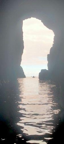 Auckland Sea Kayaks sea kayak caving follow the leader